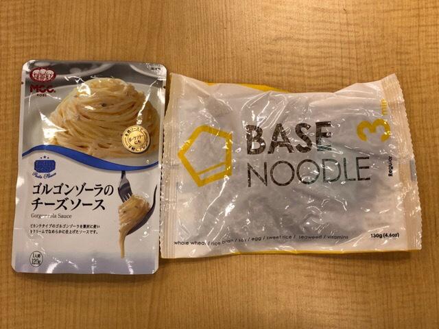 ベースヌードル×MCC食品 ゴルゴンゾーラのチーズソースのレシピ