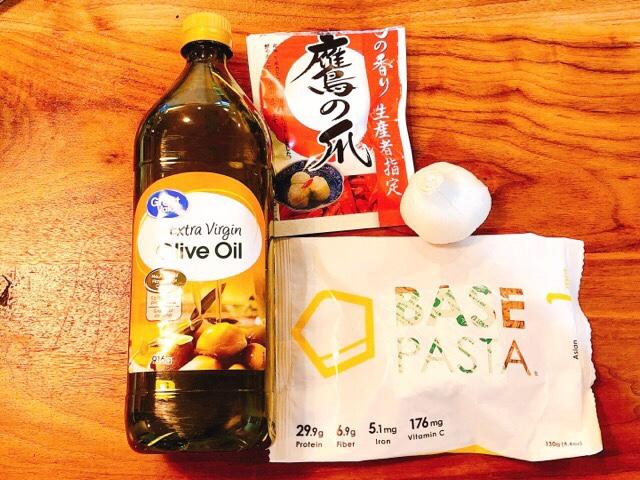 ベースパスタ(アジアン)×ペペロンチーノのレシピ