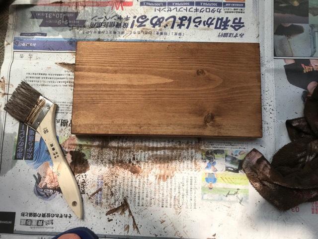 DIYダイニングテーブル塗装3