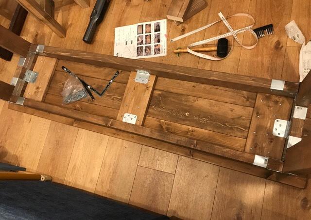 DIYダイニングテーブル天板部分裏側2