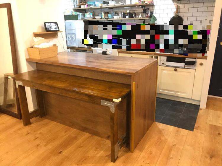 シンプソン金具のDIYテーブルの完成!