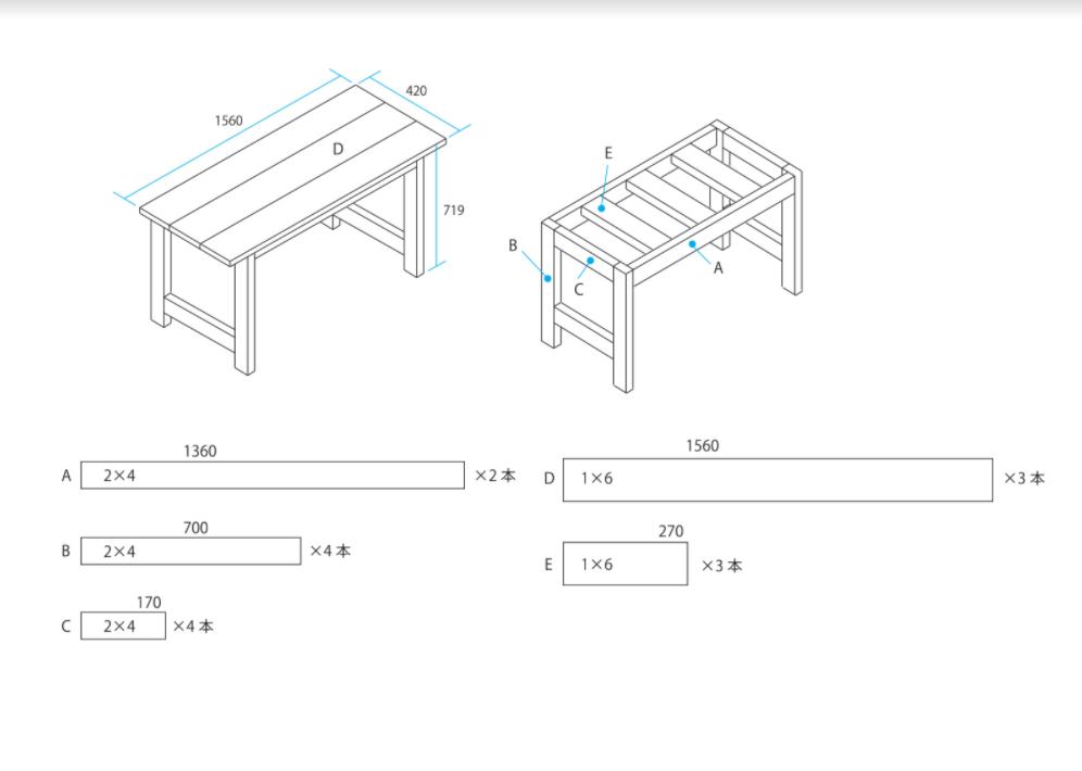 シンプソン金具を使ったDIYダイニングテーブルの設計図